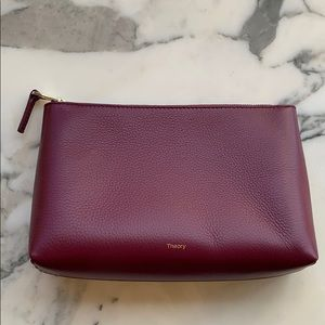 Theory leather pouch; NEVER USED